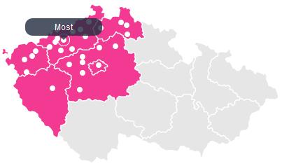 Mapa dostupnosti Bunnies.cz